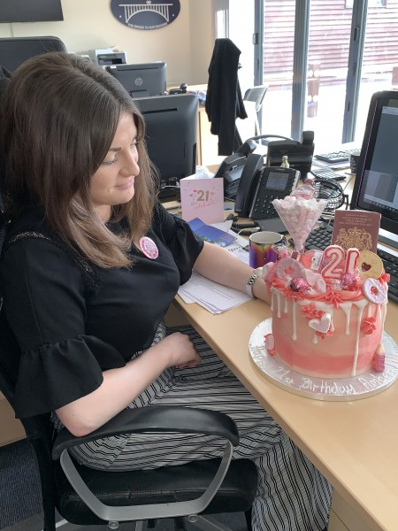 Bridge Recruitment celebrates Amber's 21st birthday